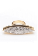 Large Pave Spear Ring - Gold - 6