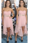 Sweetheart Chiffon Dress in Light Light Pink Large