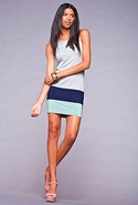 SALE-Saint Grace Margaret Colorblock Dress - Heath