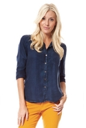 Shirt Tail Button Down in Everglade - Everglade -