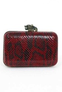 House of Harlow Marley Clutch in Red Snake - Red