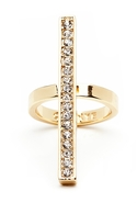 Whitney Pave Line Ring - Gold - 6/7