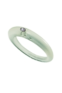 DUEPUNTI Ice Collection Diamond Ring in Sea Green