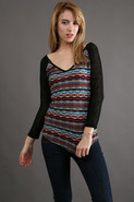 Luna Quarter Sleeve in Aztec