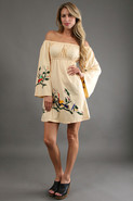 Jen Marie Off Shoulder Dress in Ivory