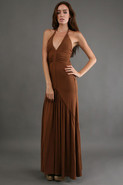Nevan Maxi Dress in Caramel