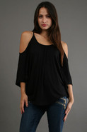 James and Joy by Joy Han Nick Open Shoulder Top in