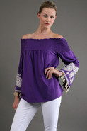 Selly Off Shoulder Top in Purple