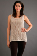 Cotton Crochet Tunic in Sand