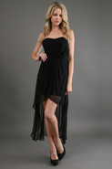 High Low Dress in Black