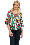 Layla Smock Top in Multi