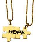 Erica Anenberg Two Puzzle Charm   Hope   Necklace