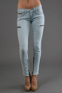 Zip Skinny Pant in Polar