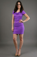 Blake Short Sleeve Dress in Orchid