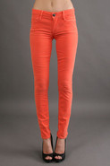 Esra Mid Rise Skinny in Coral