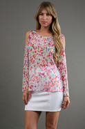 Open Shoulder Top in Monet