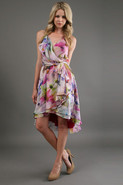 Floral Wrap Dress in Dream Garden