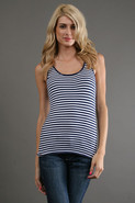 Stripe Tank in Sapphire/ White