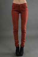 Brushed Twill Legging in Cinnamon