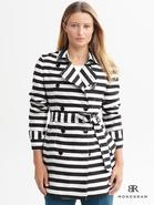 Monogram Striped Trench