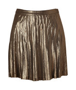 Stardust Metallic Pleated Skirt