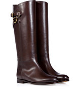 Brown Burnished Calfskin Sachi Boots