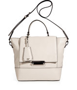 Chalk Leather 440 Top Handle Small Satchel
