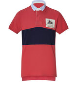 Cabana Red/Navy Mesh Fancy Rugby Polo-Shirt