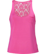 Dragonfruit Magenta All Over Lace Tank