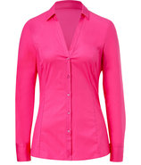 Bright Pink Stretch Cotton Emna Blouse