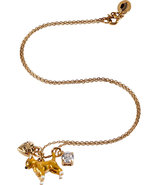 Gold-Toned Chihuahua Mini Critter Necklace