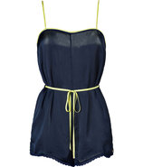 Regal Navy Satin Romper