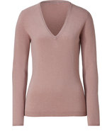 Cinnamon Cashmere V-Neck Pullover