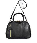 Black Leather Bowling Bag