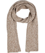 Camel/Ivory Marled Alpaca-Wool Scarf