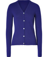 Royal Blue V-Neck Cashmere Cardigan