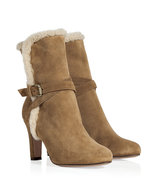 Beige Brown Crosta Boots