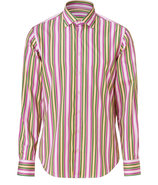 Pink-Multi Striped Cotton Shirt