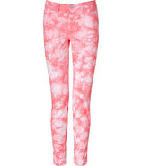 Twisted Coral Mid Rise Skinny Pants