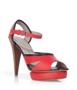 Red/Midnight Platform Sandals
