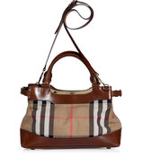 Dark Tan Bridle House Check Small Hepburn Tote