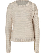 Natural Striped Raglan Sleeve Pullover