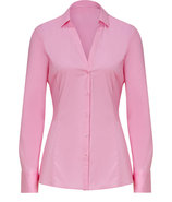 Light Pastel Pink Stretch Cotton Emna Blouse
