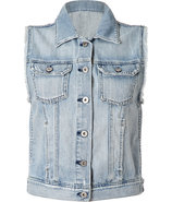 Light Blue Jean Vest