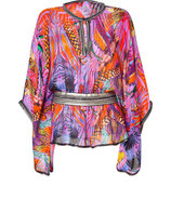 Sunset Multicolor Silk Caftan
