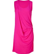 Pink cowl neck dress