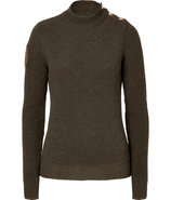 Forest Ribbed Mockneck Wool Pullover