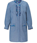 Steele Blue Flower Bed Tunic Dress