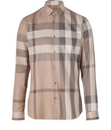 Smoked Trench Check Slim Fit Pembury Shirt