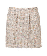 Cream-Multi Boucl? Skirt